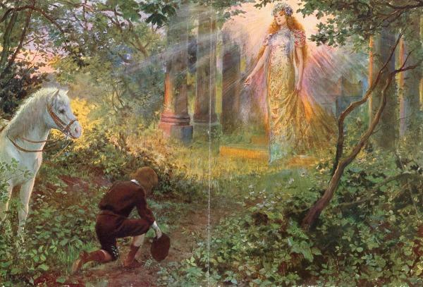Illustration Conte De Fée bnf - contes de fées