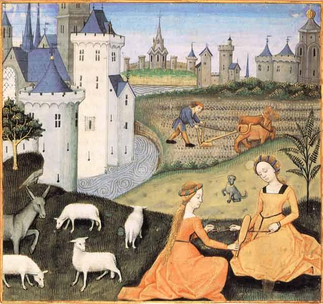 Enluminures: Les aliments au Moyen Âge 0-13