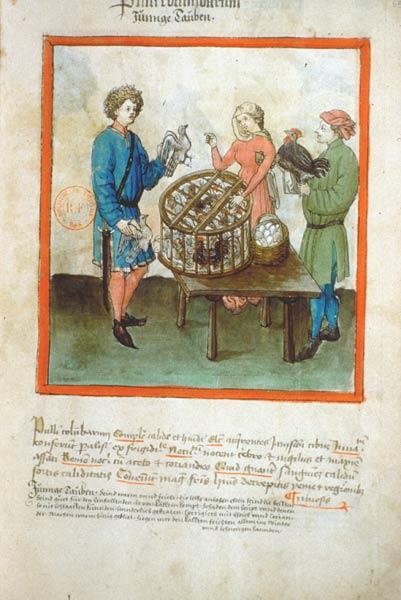 Enluminures: Les aliments au Moyen Âge 0-14