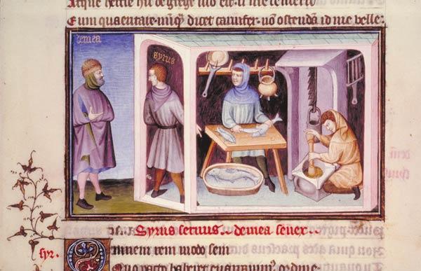 Enluminures: Les aliments au Moyen Âge 0-3