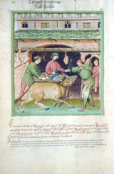 Enluminures: Les aliments au Moyen Âge 1-0