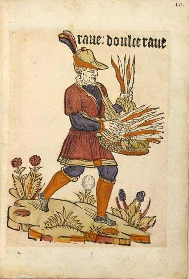 Enluminures: Les aliments au Moyen Âge 1-1
