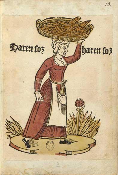 Enluminures: Les aliments au Moyen Âge 1-2