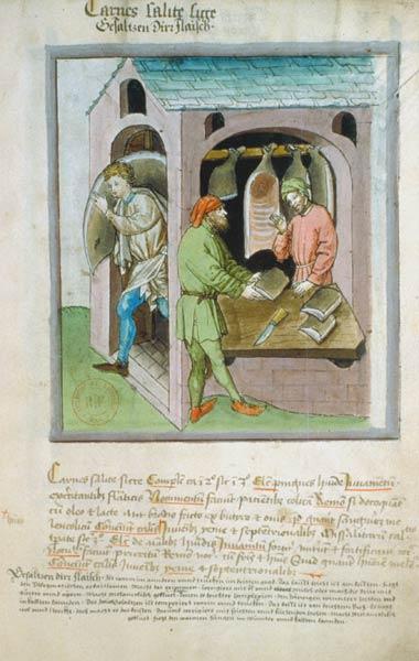 Enluminures: Les aliments au Moyen Âge 1-3