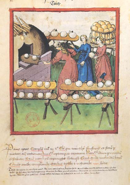 Enluminures: Les aliments au Moyen Âge 1-6