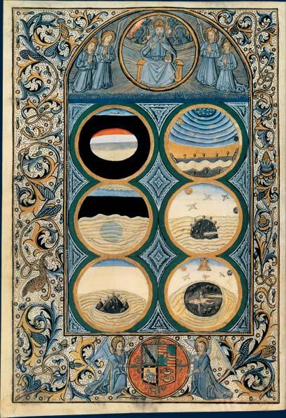 Biblia latina, La creacion del mar  dans immagini sacre 001